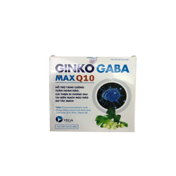 Ginkogaba MaxQ10 Hộp 100 Viên  -  Trị Thiểu Năng Tuần Hoàn Não