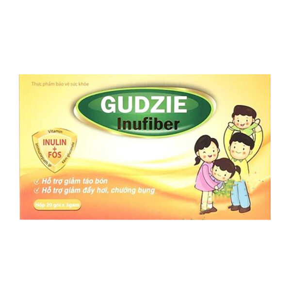 Gudzie Inufiber Hộp 20 Gói - Hỗ Trợ Giảm Táo Bón