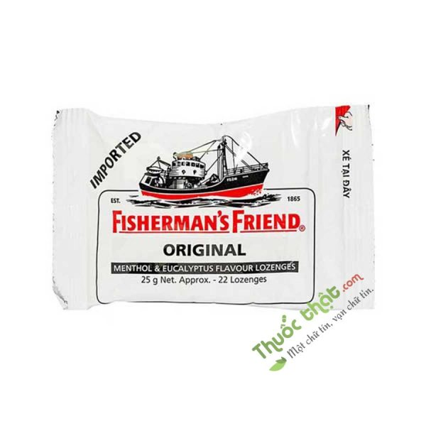 Fisherman's Friend Original Gói 25G - Kẹo Cay Con Tàu