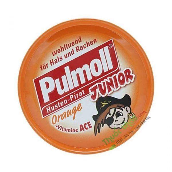 Pulmoll Junior Orange Lọ 50 Viên - Kẹo Ngậm Ho Không Đường
