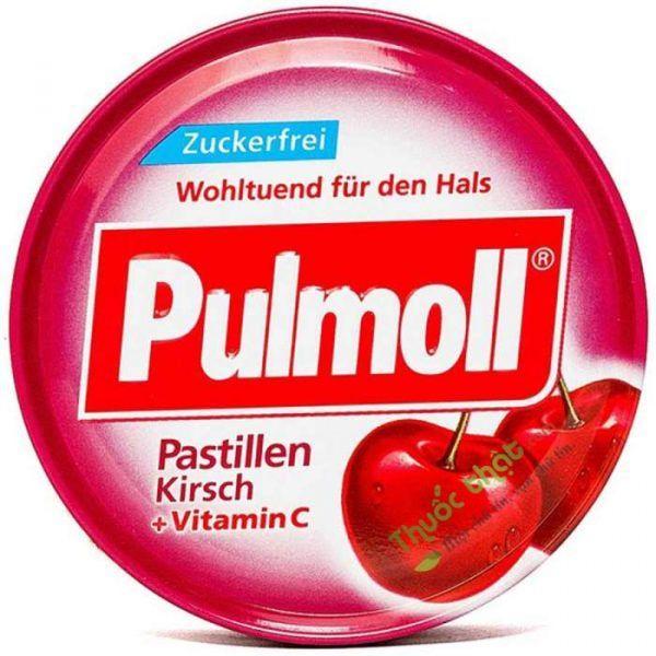 Pulmoll Kirsch Lọ 50 Viên - Kẹo Ngậm Ho Không Đường