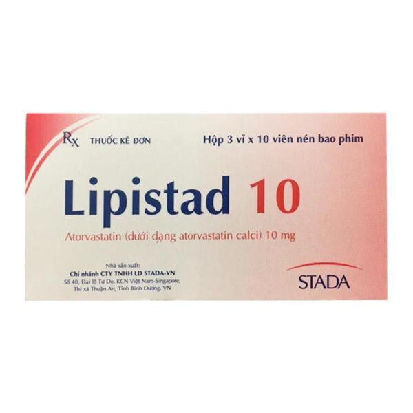 Thuốc Lipistad 10mg Stada - Hộp 30 Viên - Điều Trị Tăng Mỡ Máu