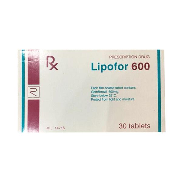 Thuốc Lipofor 600 - Hộp 30 Viên - Điều Trị Tăng Mỡ Máu
