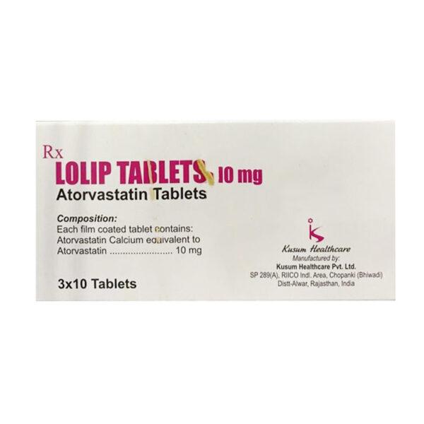 Thuốc Lolip Tablets 10mg - Hộp 30 Viên - Điều Trị Tăng Mỡ Máu