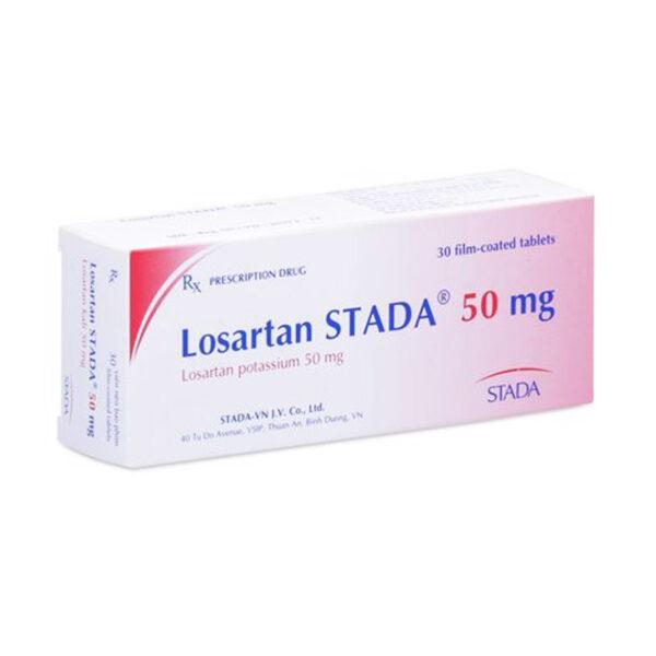 Thuốc Losartan Stada 50mg - Hộp 30 Viên - Trị Bệnh Tăng Huyết Áp