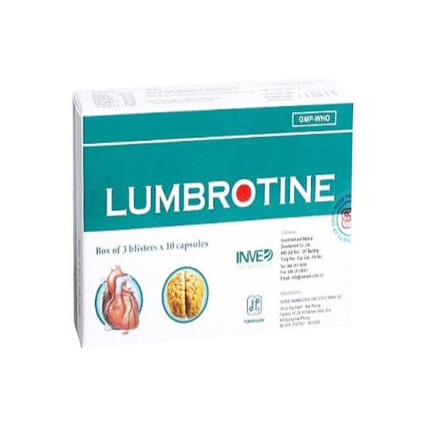 Thuốc Lumbrotine - Lọ 30 Viên- Lưu Thông Khí Huyết