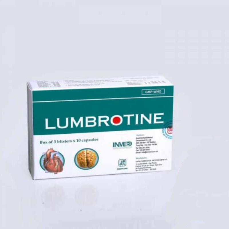 Lumbroitin Vỉ hộp 3 vỉ