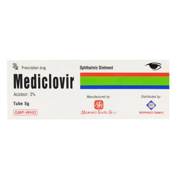 Mediclovir 5g - Thuốc Mỡ Tra Mắt