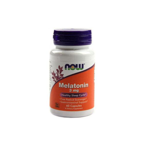 Melatonin 3mg Now Hộp 60 Viên - Giúp Điều Hòa Giấc Ngủ
