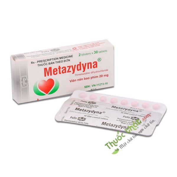 Metazydyna 20mg Hộp 60 Viên - Thuốc Điều Trị Đau Thắt Ngực