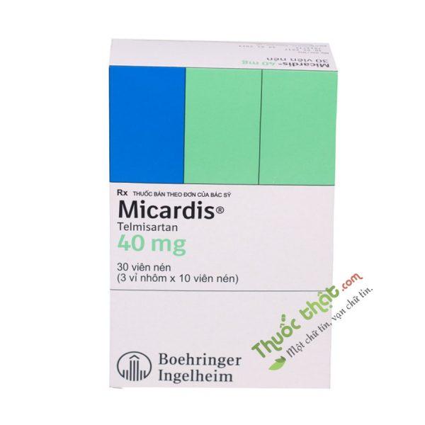 Thuốc Micardis 40mg Hộp 30 Viên -  Trị Tăng Huyết Áp Vô Căn