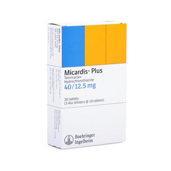 Micardis Plus 40/12,5mg Hộp 30 Viên - Điều Trị Cao Huyết Áp