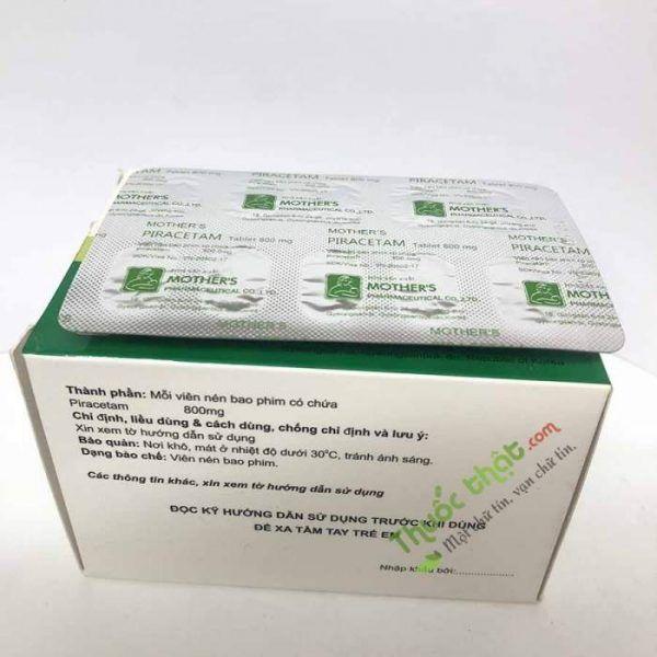 Thuốc Mother's Piracetam 800mg-Điều Trị Giảm Nhận Thức