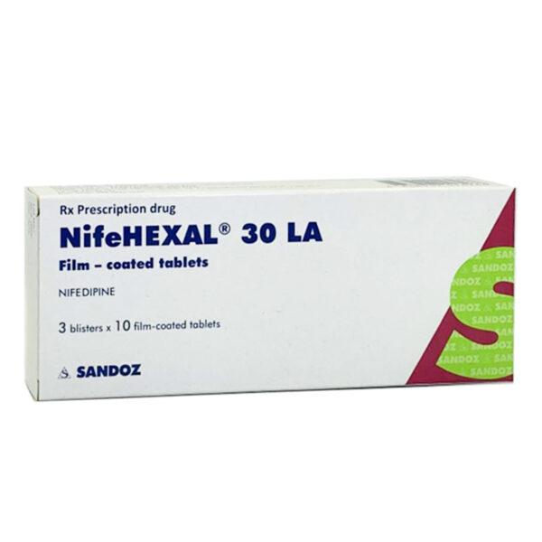 NifeHexal 30 LA Hộp 30 Viên - Điều Trị Đau Thắt Ngực