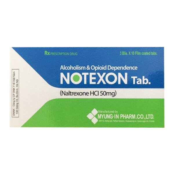 Notexon Tab Hộp 30 Viên - Trị Nghiện Rượu Mạn