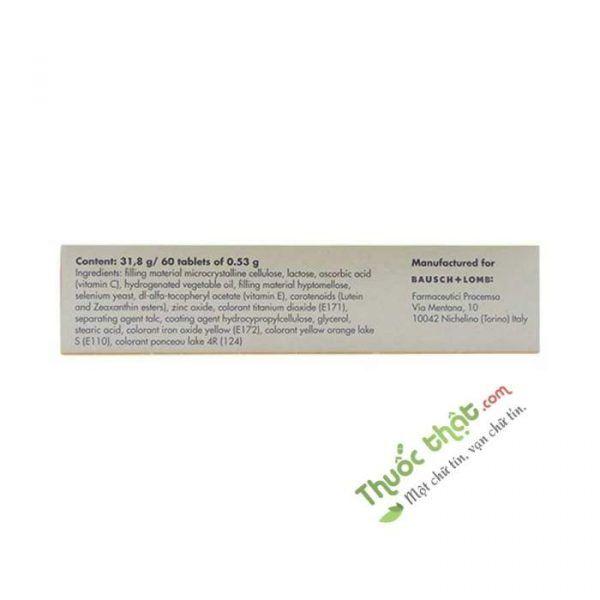 Ocuvite Lutein Hộp 60 Viên- Giúp Mắt Sáng Và Khỏe