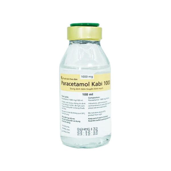 Dịch Tiêm Truyền Paracetamol Kabi 1000 - Hạ Sốt, Giảm Đau