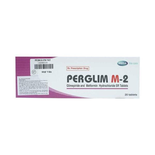 Perglim M-2 Hộp 20 viên - Điều trị tiểu đường type 2