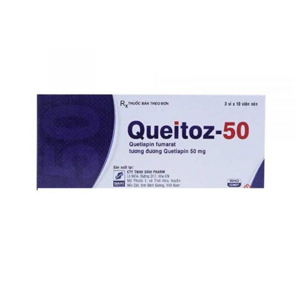 Queitoz 50mg Hộp 30 viên - Điều trị tâm thần phân liệt