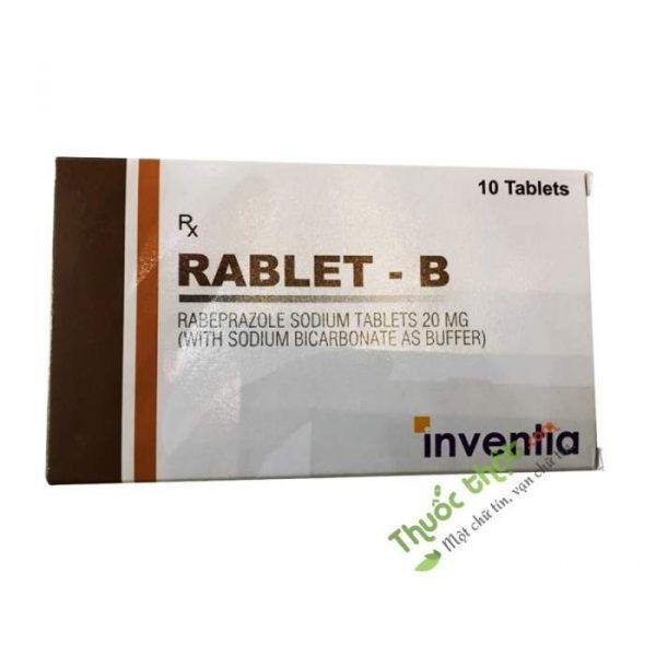 Thuốc Rablet B - Hộp 10 Viên - Điều Trị Hồi Lưu Dạ Dày, Thực Quản