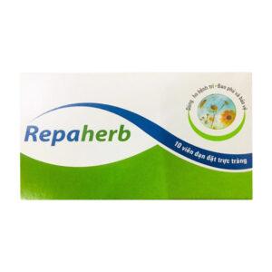 Repaherb Hộp 10 Viên - Viên Đặt Điều Trị Bệnh Trĩ Nội