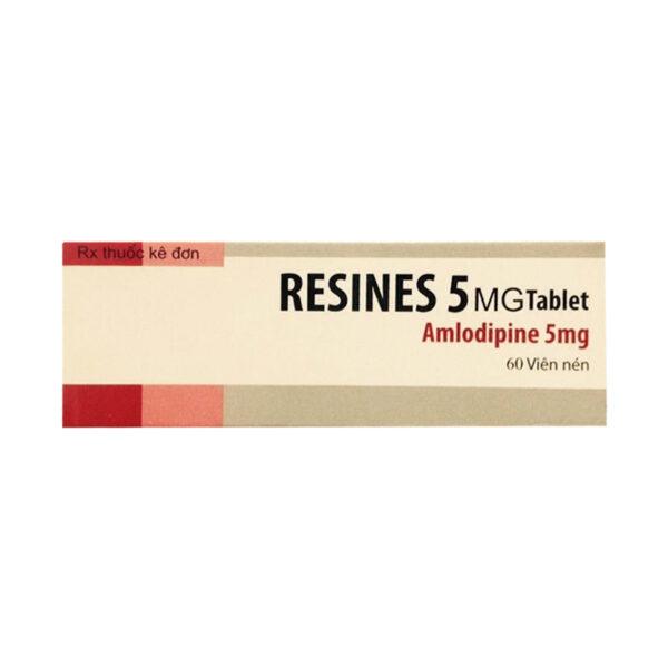Resines 5mg Hộp 60 viên - Điều trị đau thắt ngực