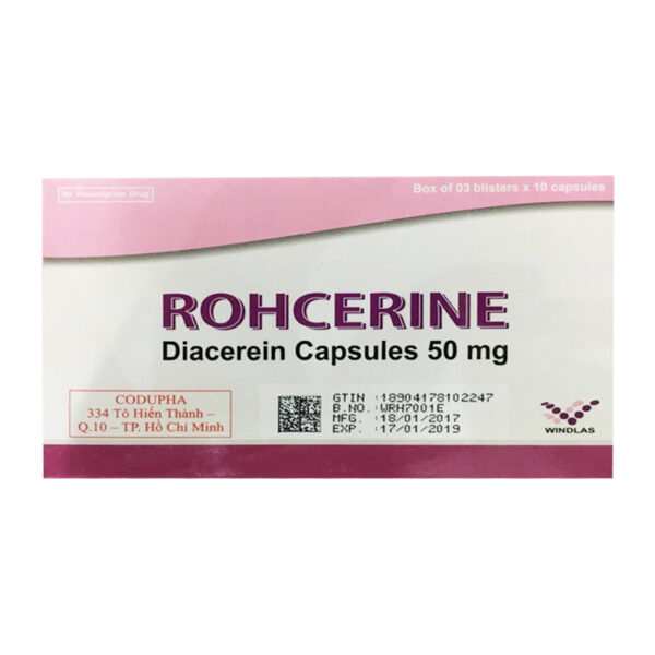 Rohcerine Hộp 30 Viên - Điều Trị Triệu Chứng Viêm Xương Khớp