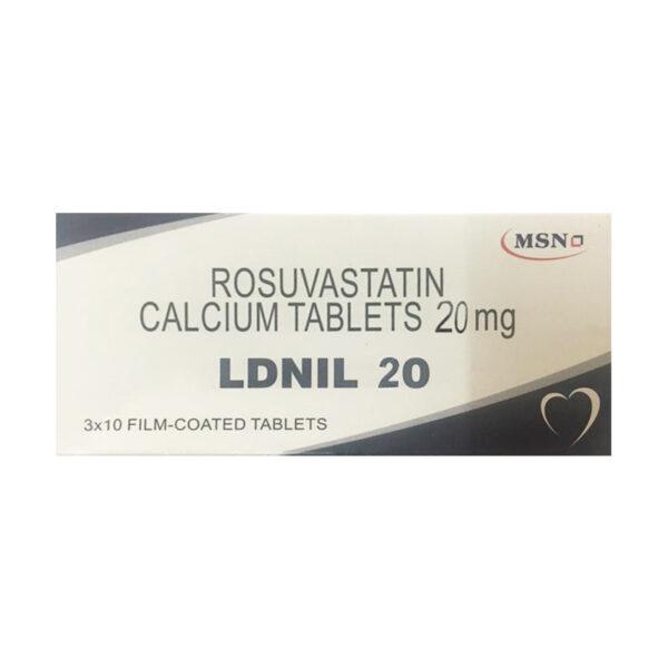 Rosuvastatin 20mg Hộp 30 Viên - Điều Trị Tăng Lipid Máu