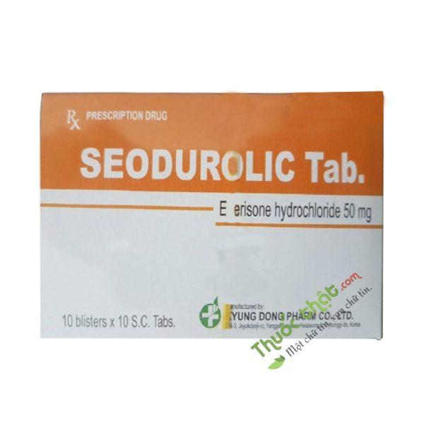 Seodurolic Tab - Cải thiện các triệu chứng tăng trương lực cơ - Hộp 100 viên