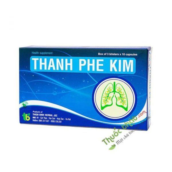 Thanh Phế Kim Hộp 30 viên - Giúp Thông Thoáng Đường Thở