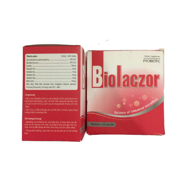 Thực phẩm bổ sung Biolaczor Hộp 10 vỉ - Cân bằng hệ vi sinh đường ruột
