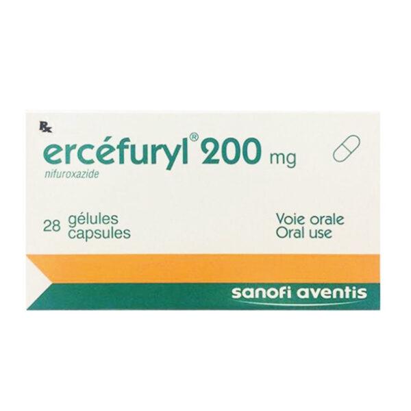 Ercéfuryl 200 mg Hộp 28 Viên - Điều Trị Tiêu Chảy Cấp Tính