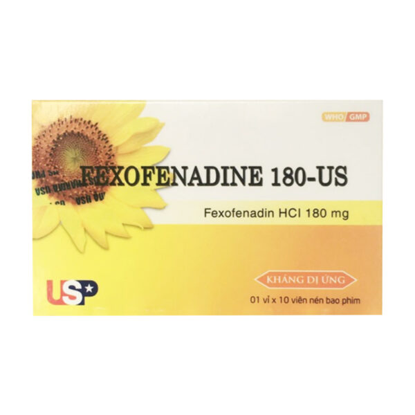 Fexofenadine 180 Hộp 10 Viên - Điều Trị Viêm Mũi Dị Ứng