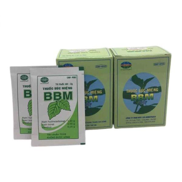Thuốc bột BBM hộp 12 gói - Thuốc bột súc miệng sát trùng miệng