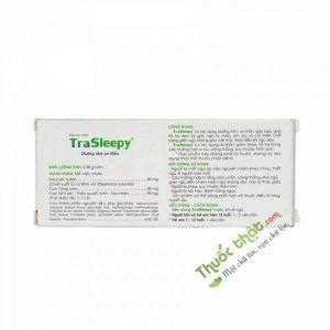 Trasleepy Hộp 20 Viên - Hỗ Trợ Dưỡng Tâm An Thần