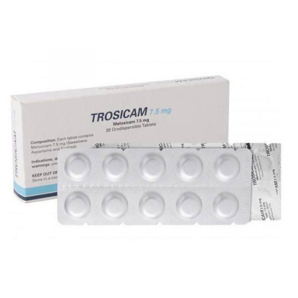 Thuốc Trosicam - Hộp 30 Viên - Điều Trị Viêm Đau Xương Khớp