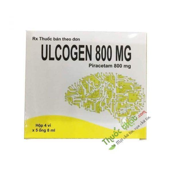 Ulcogen 800mg Hộp 20 Ống - Trị Bệnh Do Tổn Thương Não