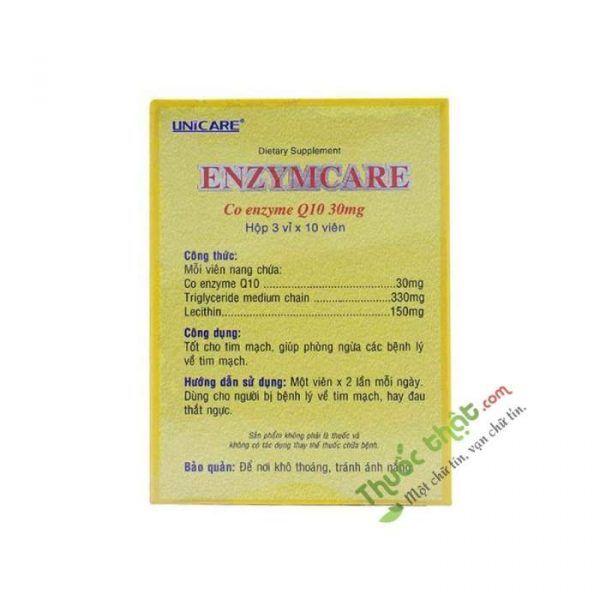 Unicare Enzym Care Hộp 30 Viên - Hỗ Trợ Sức Khỏe Tim Mạch