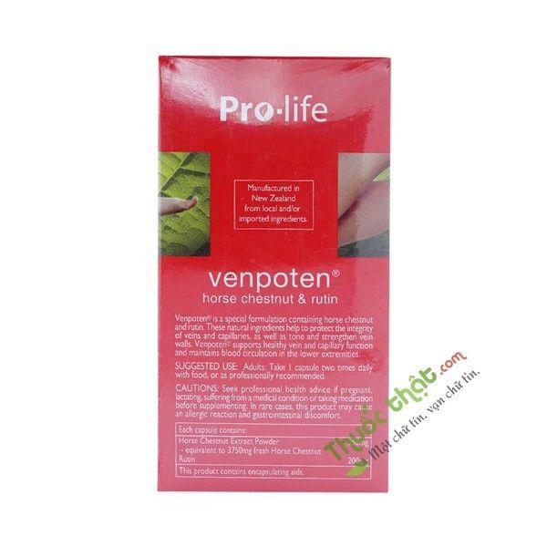 Venpoten Pro-Life 100 Viên - Viên Uống Hỗ Trợ Điều Trị Giãn Tĩnh Mạch