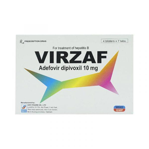Thuốc Virzaf 10mg-Trị Bệnh Viêm Gan B Mạn Tính