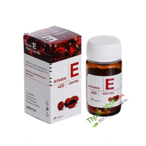 Vitamin E Zentiva 400Mg Lọ 30 Viên - Bổ Sung  Vitamin E