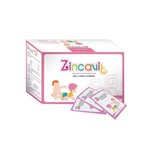 Zincavit Hộp 30 Gói - Tăng Cường Sức Khỏe Trẻ Nhỏ