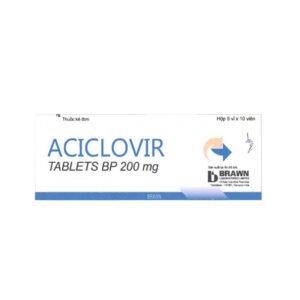 Aciclovir 200mg Hộp 50 viên - Điều trị nhiễm virus Herpes