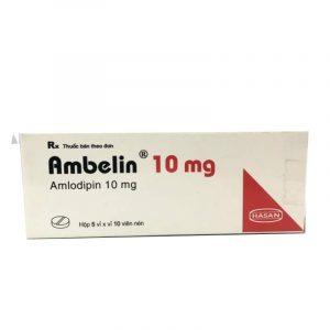 Thuốc Ambelin10mg - Hộp 50 Viên - Điều Trị Cao Huyết Áp