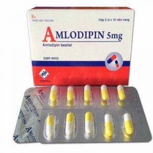 Thuốc Amlodipin 5mg - Hộp 30 Viên - Điều Trị Tăng Huyết Áp