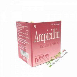 Thuốc Ampicillin 500mg-Kháng Sinh Kháng Khuẩn