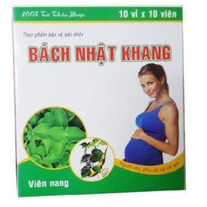 Bách Nhật Khang - Hộp 100 Viên - Trị Cảm Cúm Dành Cho Bà Bầu