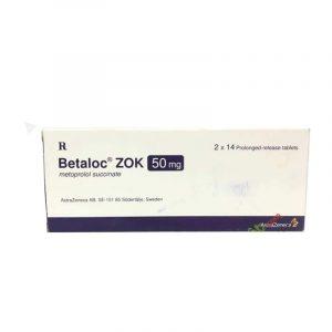 Thuốc Betaloczok 50mg - Hộp 28 Viên - Điều Trị Đau Thắt Ngực
