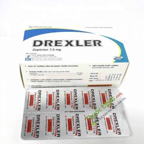 Thuốc Drexler 7,5 mg - Điều trị rối loạn giấc ngủ