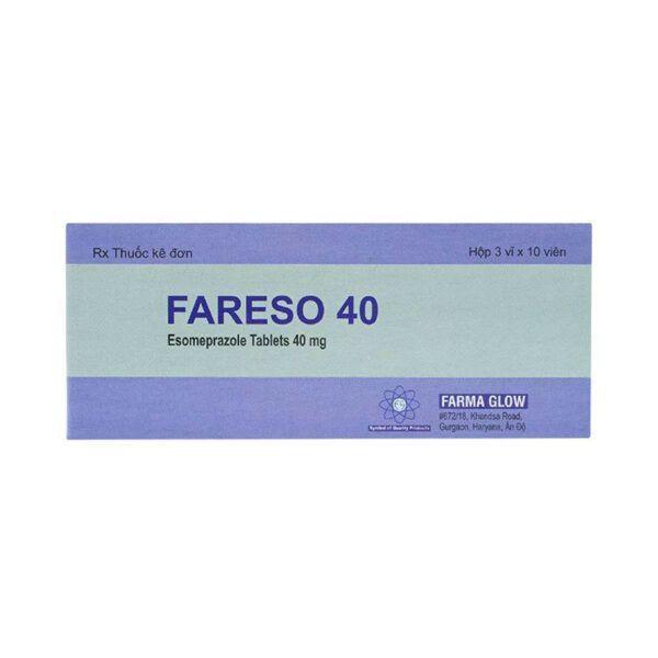 Thuốc Fareso 40 - Hộp 30 Viên - Trị Viêm Xước Thực Quản Do Trào Ngược